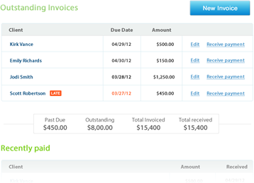 Send invoices and receive payments
