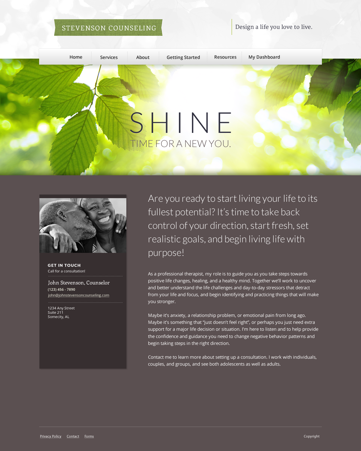 Old Fashioned Therapist Website Template Sketch - Example Resume ...